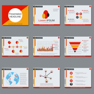 Business presentation vector design template
