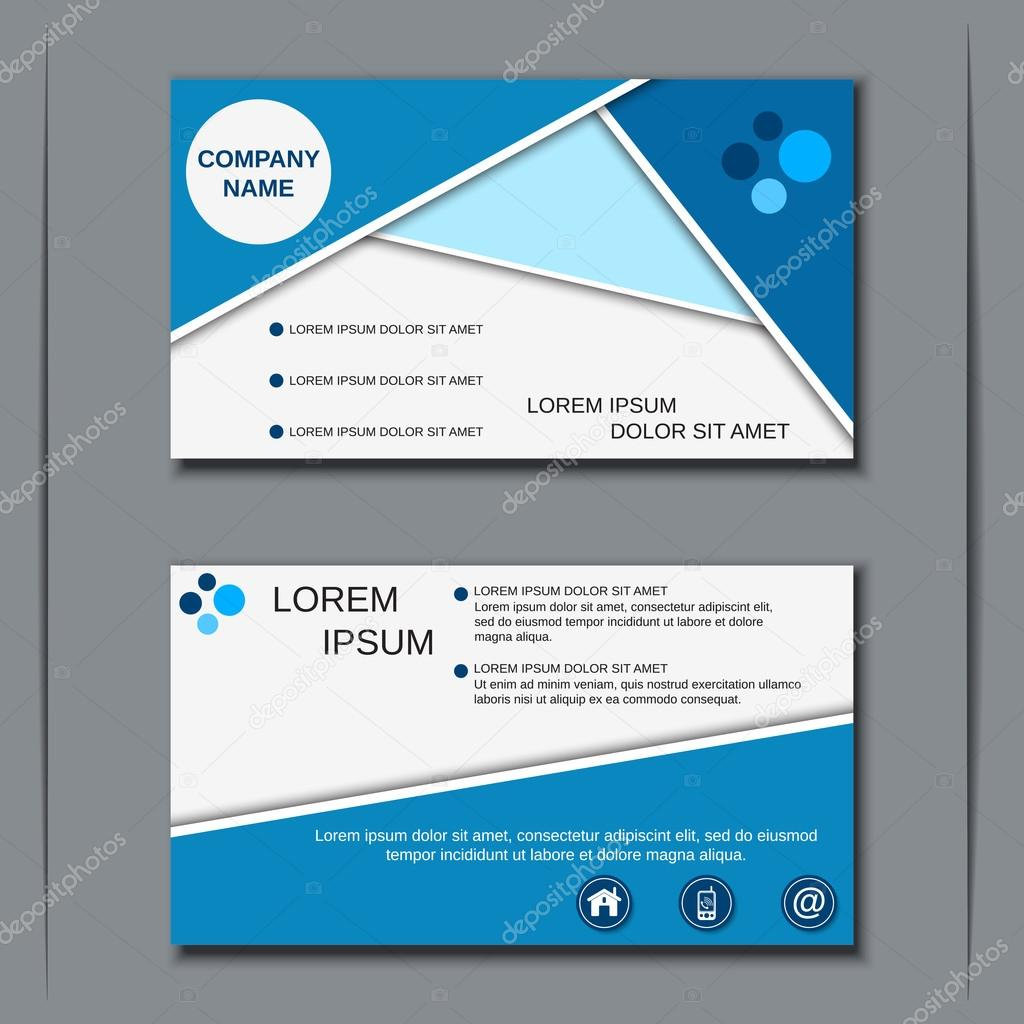 Modern Business Visiting Card Template Stock Vector