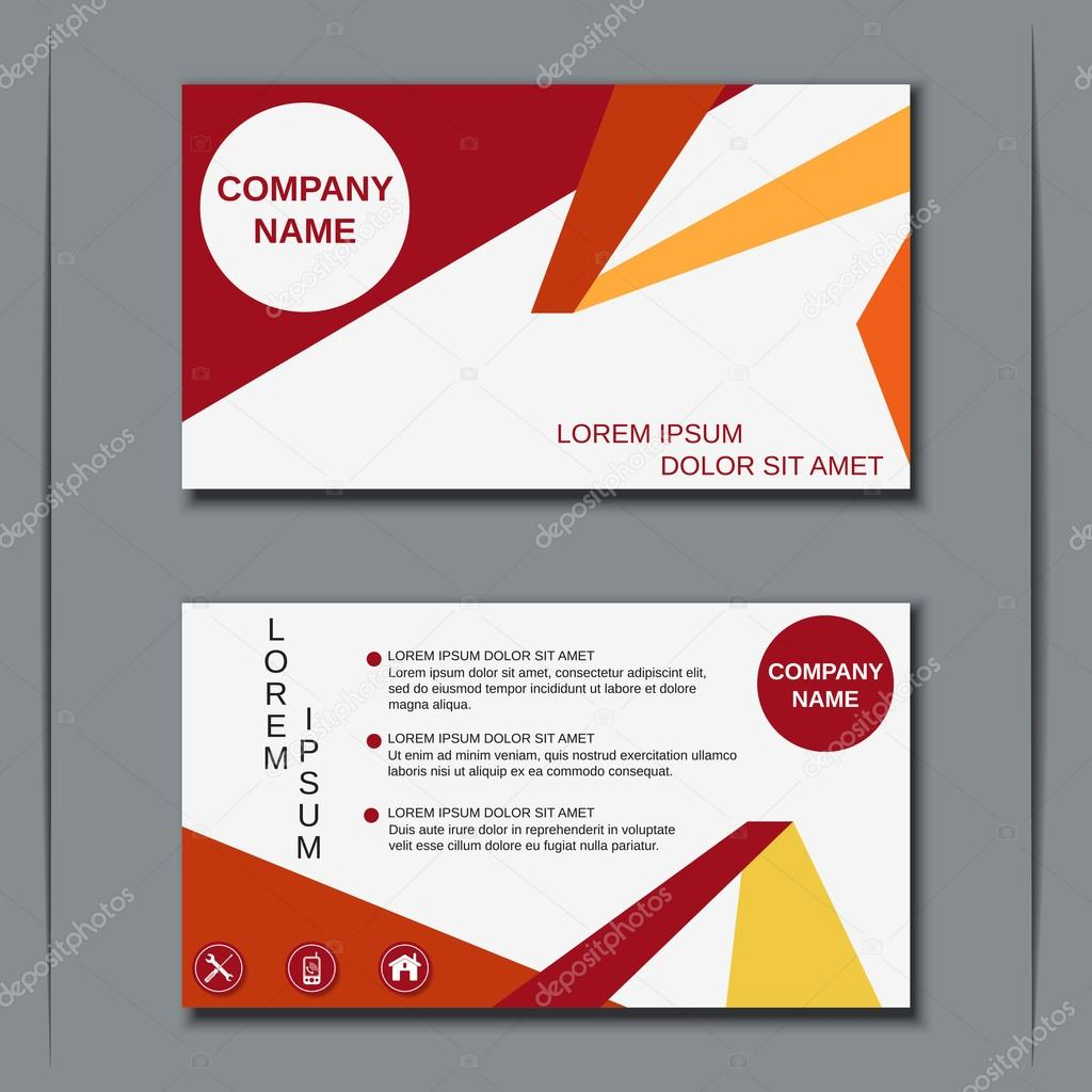 Modern business visiting card template — Stock Vector © Ulvur ...