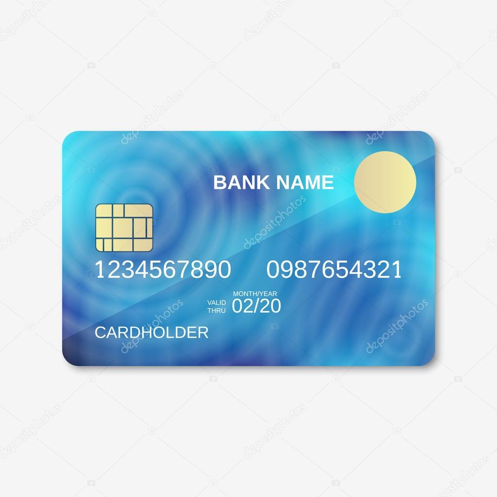 bank card credit card design template stock vector