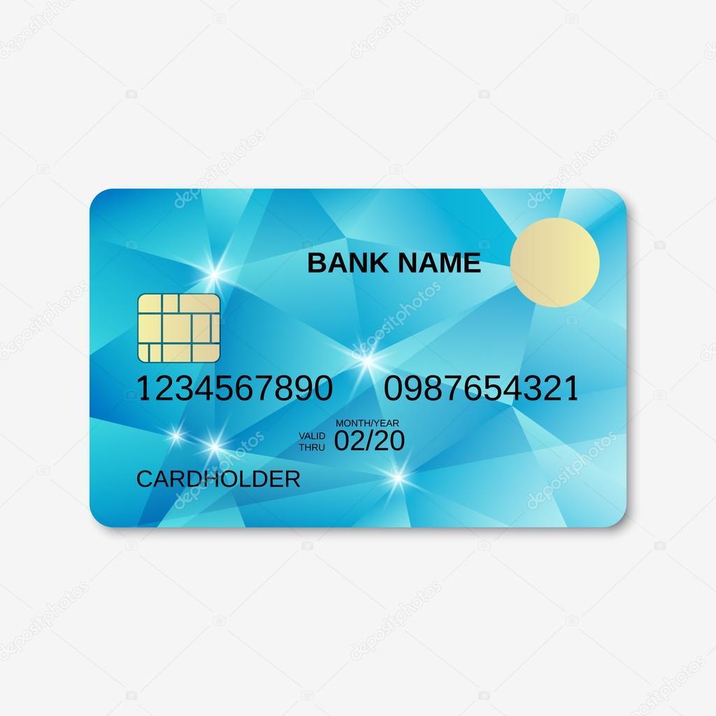 Design of discount card - Bank Card Credit Card Discount Card Design Template Stock Illustration
