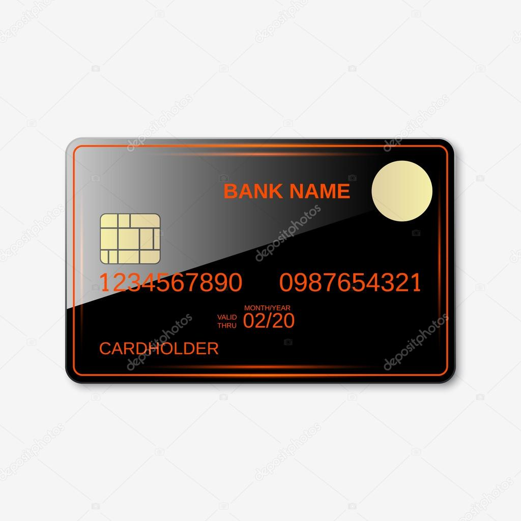 Bank card, credit card, discount card — Stock Vector © Ulvur #96452732