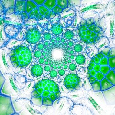 Animal cells under microscope.