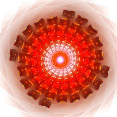 Circular vortex broken particles.