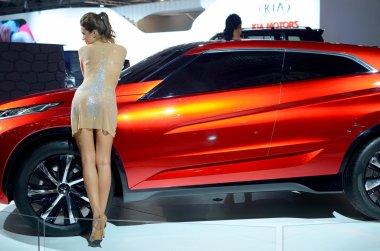 MOSCOW - 29.08.2014 - Automobile Exhibition