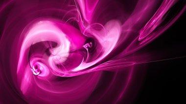 Colored smoke. Spiral Nebula space.