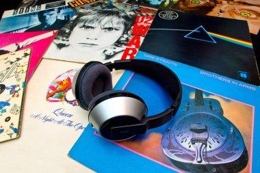 Old vinyl LP records
