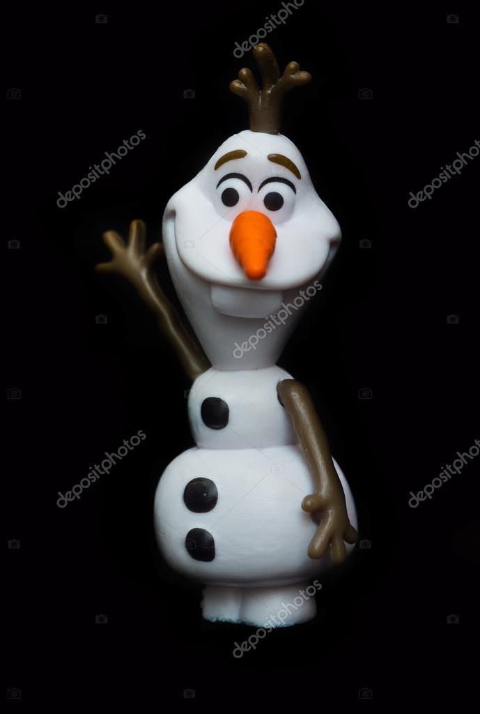 muñeco de nieve Olaf de película congelada — Foto editorial de stock ...