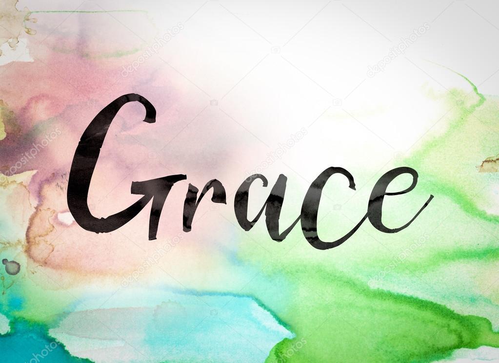 Grace Concept Watercolor Theme Stock Photo Enterlinedesign