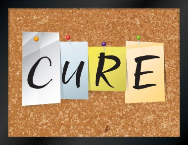 Cure Bulletin Board Theme Illustration