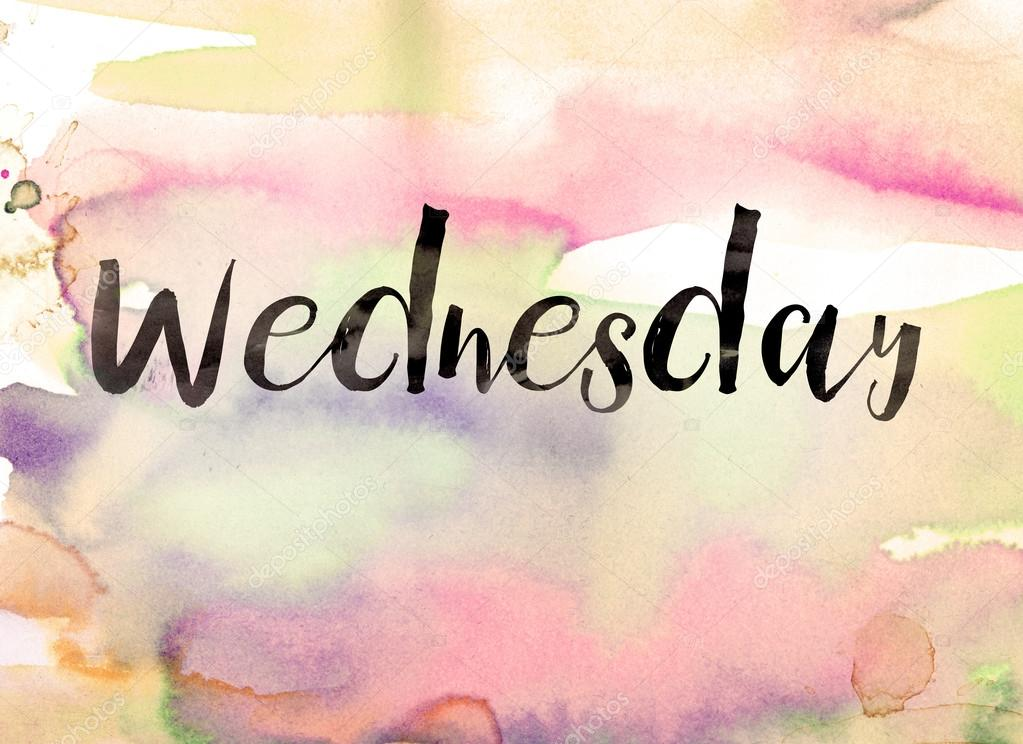 Wednesday Concept Watercolor Theme Stock Photo Enterlinedesign