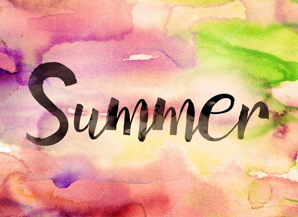 Summer Concept Watercolor Theme Stock Photo Enterlinedesign