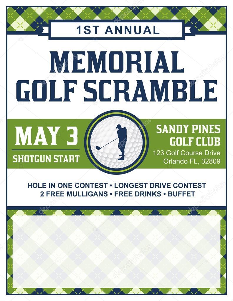 Golf Tournament Flyer Template Stock Vector Enterlinedesign - Golf tournament flyer template