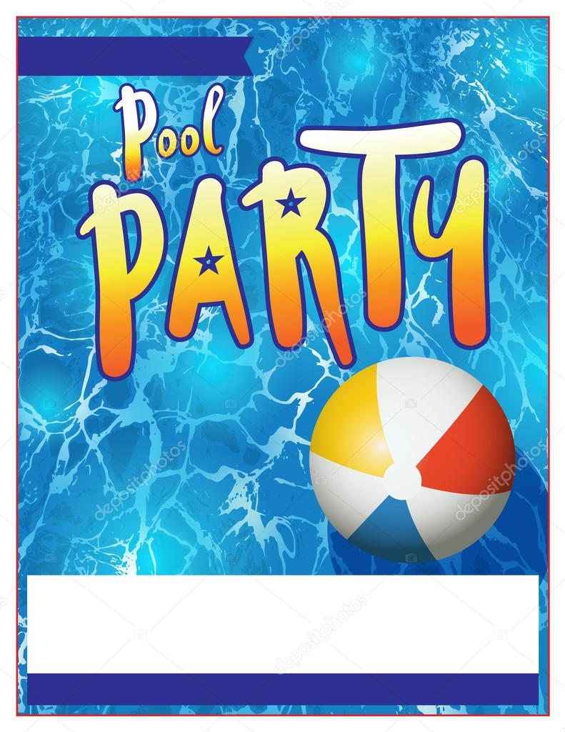 Pool party flyer inbjudan illustration stock vektor for Piscina party