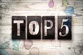 Top 5 koncept kovových knihtisk typ