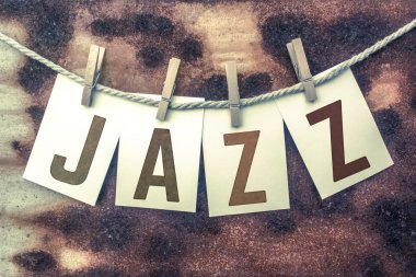 Jazz Concept Pinned Stamped Cards on Twine Theme