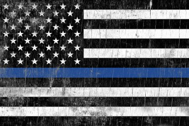 Law Enforcement Police Support Flag
