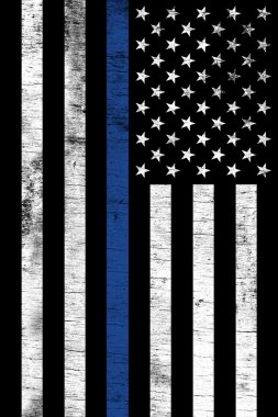 Police Law Enforcemtnt Support Vertical Textured Flag