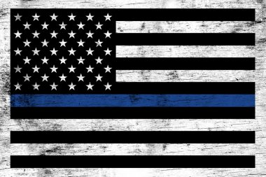 Police Law Enforcement Support Flag Background
