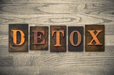 Detox Wooden Letterpress Concept