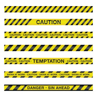 Spiritual Caution Tape Illustration