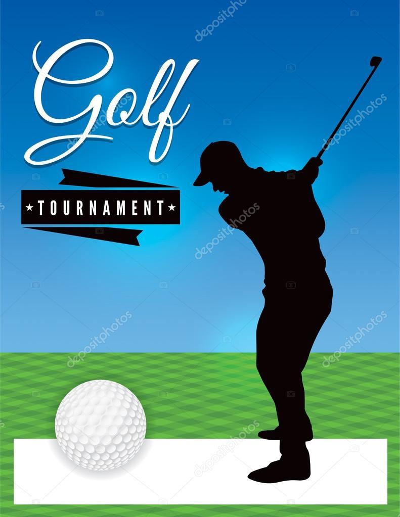 Golf Tournament Flyer Template Illustration Stock Vector - Golf tournament brochure template