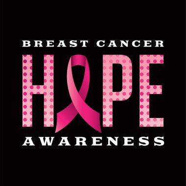 Breast Cancer Awareness Hope Message Illustration