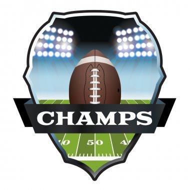 American Football Champs Badge Illustration