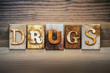 Drugs Concept Letterpress Theme