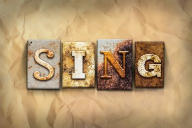 Sing Concept Rusted Metal Type