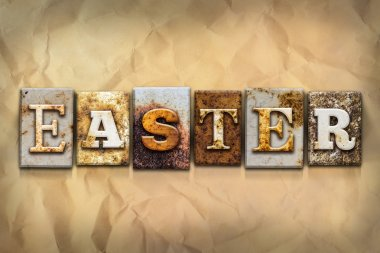 Easter Concept Rusted Metal Type