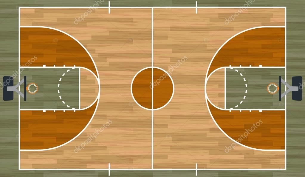 Realistic Basketball Court Illustration Stock Vector C Enterlinedesign 92033408