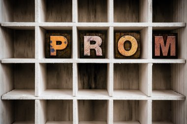 Prom Concept Wooden Letterpress Type in Drawer