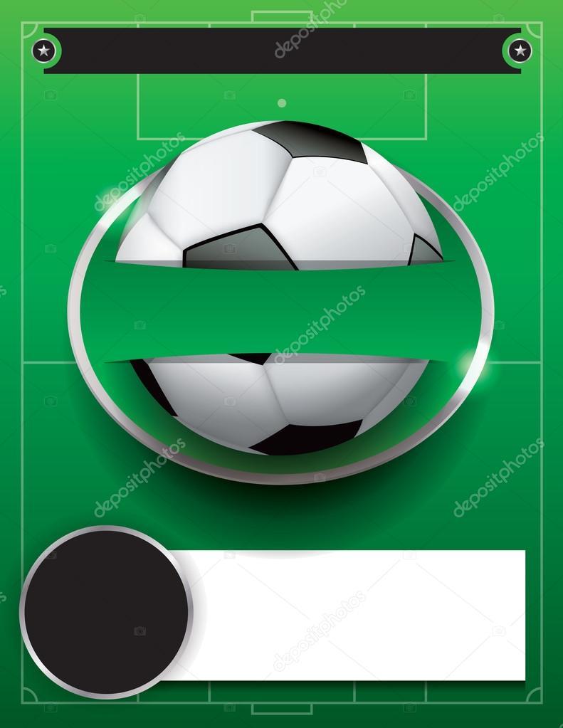 Vectores futbol fútbol torneo plantilla ilustración — Archivo ...