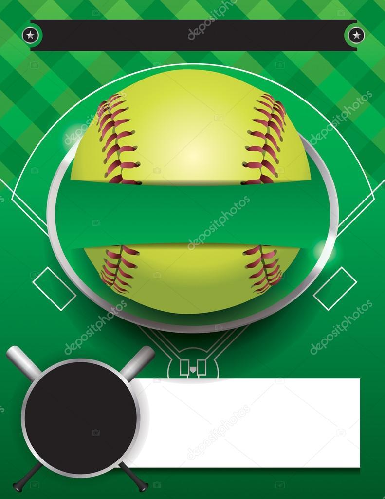 Vector Softball Tournament Template Illustration — Stock Vector ...