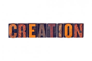 Creation Concept Isolated Letterpress Type