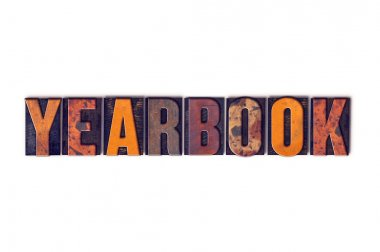 Yearbook Concept Isolated Letterpress Type