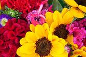 bouquet of a different color flowers