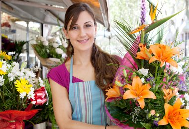 florist woman in her store