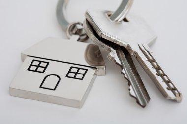 New home mortgage keys and keyring
