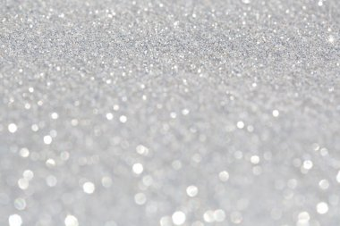 Abstract glitter festive silver background