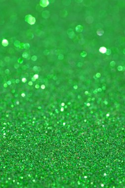 Abstract green glitter festive background