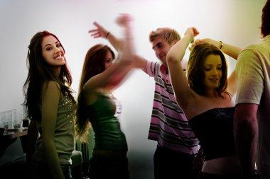 people dancing in a night club