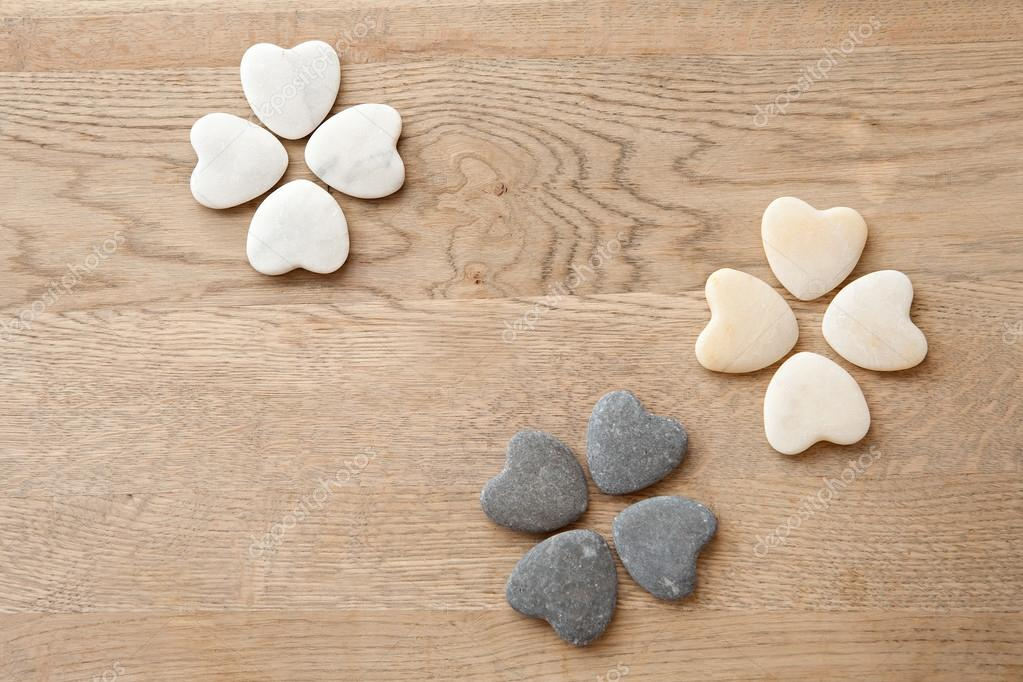 multiple heart shaped natural stones
