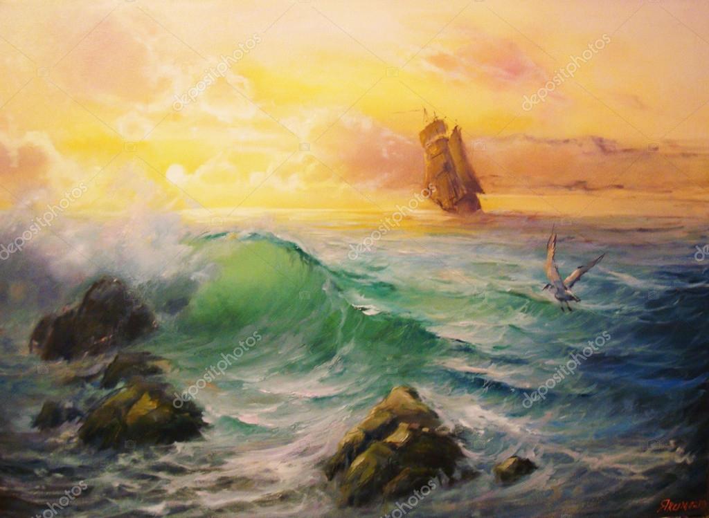 Seascape. Near the shore.
