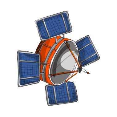 Satellite cartoon stile