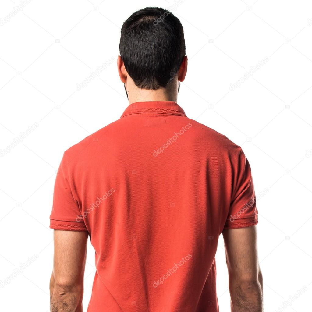 Man Wearing Red Polo Shirt Stock Photo Luismolinero