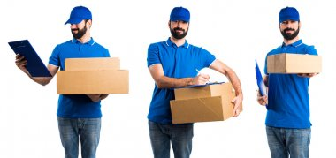 Delivery man with folder