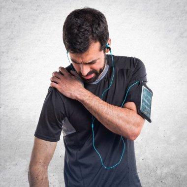 Sportman with shoulder pain