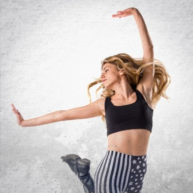Woman dancing street dance